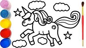 Vẽ con Kỳ Lân và tô màu cho bé | Dạy bé vẽ