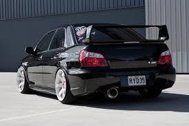 black sedan subaru impreza sti
