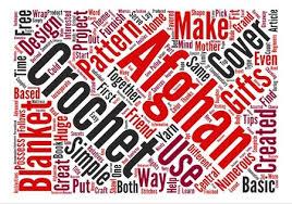 crochet afghan patterns word cloud