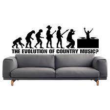 Shop Country Music Evolution Sticker Vinyl Wall Art Overstock 10017165