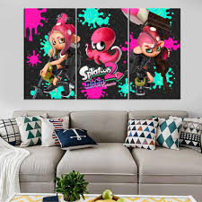Splatoon 2 Game Painting Modern Decorative Wall Artwork Picture For Children Room One Set 3 Panel Canvas Print Modular Poster Painting Calligraphy Aliexpress