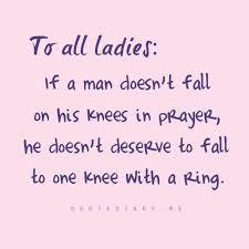 have the highest standard for your future husbands relationship