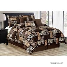 7 pieces multi animal print comforter