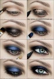 Smokey blue tutorial - Use Mary Kay eyeliner in black, Mary Kay mineral eye  shadows in Haze… | Blue eye makeup tutorial, Smoky eye makeup, Smoky eye  makeup tutorial