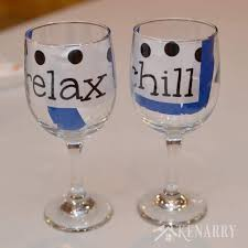 hand painted wine glasses how to make