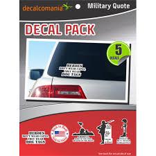 Military Quotes Sticker Car Decal Value Kit Walmart Com Walmart Com