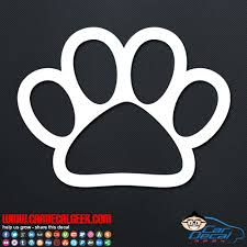 Cute Dog Paw Vinyl Car Wall Window Decal Sticker