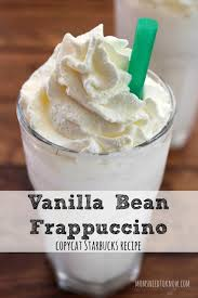 vanilla bean frappuccino copycat