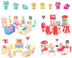 Amazon Com 50 Pack Kids Little Dollhouse Furniture Toys House Big Dreams For Baby Children Girls Boys Age 3 Toys Games