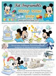 Kit Imprimible Mickey Mouse Bebecurso Virtual