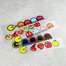 Cartoon Game Pac Cute Fruit Car Stickers Auto Body Window Tail Decal Reflective For Pacman Car Stickers Aliexpress