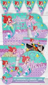 Kit Imprimible La Sirenita Ariel Invitacion Etiquetas Candy S 17 50 En Mercado Libre