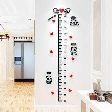 Cartoon Panda Height Measure Wall Sticker 3d Acrylic Decal For Kids Room Decor Wall Stickers Baby Nursery Height Ruler Sticker Wall Stickers Aliexpress