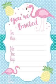 Resultado De Imagen De Free Printable Pink Flamingo Invitations