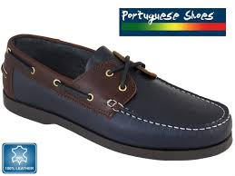 portuguese leather boat shoes