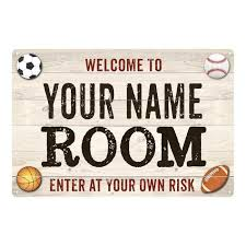 Personalized Kids Room Bedroom Sign Boy S Metal Sign 108120090001 Chico Creek Signs