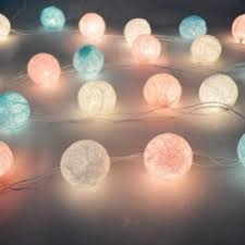 5m 20led cotton ball patio party