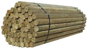 Parma Post 8 Foot Round Wood Fence Post 6 5 Inc Diameter D B Supply