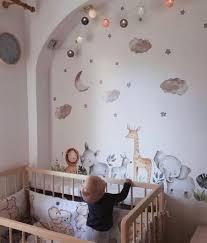 Watercolor Safari Wall Stickers Kids Wall Decal Boy Safari Etsy Nursery Wall Decor Boy Baby Nursery Murals Baby Room Decor