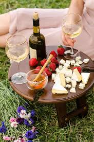 folding picnic table outdoor wine table
