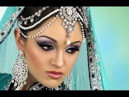 purple smokey eye bridal makeup