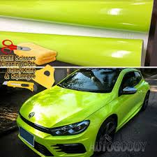 24 X60 Gloss Fluorescent Neon Green Car Vinyl Wrap Sticker Decal Bubble Free Car Truck Graphics Decals Auto Parts And Vehicles Tamerindsa Com Ar