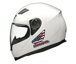 Helmet Motorcycle Honda Dirt Bike Stickers 2pcs America Flag Removable Decal Ebay