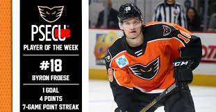 PSECU Player of the Week — Byron Froese (4/8) - Lehigh Valley Phantoms