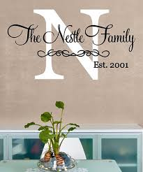 The Vinyl Company White Fancy Initial Est Personalized Wall Decal Best Price And Reviews Zulily