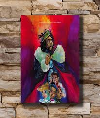 Art Poster New J Cole K O D Album Cover Artwork American Rapper Light Canvas Wall 14x21 20x30 24x36in N775 Wall Stickers Aliexpress