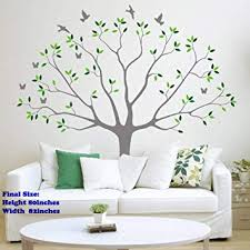 Family Photo Tree Wall Decal Stickers Living Room Home Decal Bed Baby Room Wall Decals Memory Tree And Birds Wall Stickers Butterfly Green Grey Amazon Com