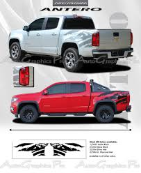 2015 2016 2017 2018 Gmc Canyon Truck Bed Stripes Antero Decals Rear Side Bed Mountain Scene Accent Vinyl Graphics Kit