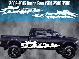 Product 2009 2016 Dodge Ram Rebel Vinyl Decal Graphic Racing Rebel 4x4 Truck Stripe