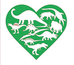 Amazon Com Personalized Dinosaur Heart Vinyl Decal Dino Bumper Sticker For Tumblers Laptops Car Windows Pick Your Size And Color Handmade