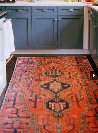persian rug and dark hardwood floors