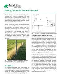 Electric Fencing For Pastured Livestock Scians Org