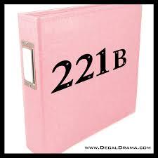 221b Baker Street Bbc S Sherlock Inspired Fan Art Vinyl Car Laptop De Decal Drama