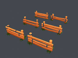 Low Poly Farm Fence 3d Model Cgstudio