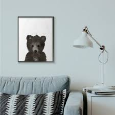 The Kids Room By Stupell 24 In X 30 In Baby Black Bear By Leah Straatsma Framed Wall Art Aap 347 Fr 24x30 The Home Depot