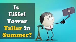 is eiffel tower taller in summer
