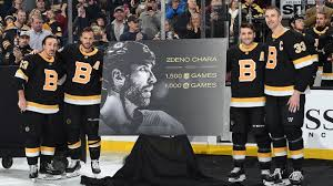 Bruins honor Chara for 1,500th game - YouTube