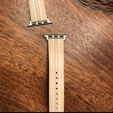 vachetta leather apple watch strap