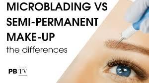 microblading vs semi permanent make up