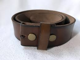 mahogany brown leather belt strap for