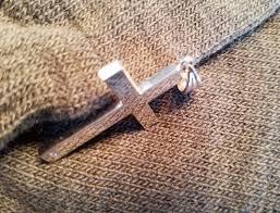 18k white gold men s cross pendant