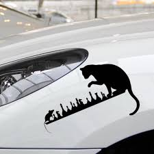 Buy 2 Pieces Car Stickers Car Sticker Chess Cat Mouse Animals Design Vinyl Decal Decorative Cartoon Stickers Car Stick
