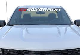Amazon Com Silverado Windshield Decal Bed Tailgate Sticker Sidebed Vinyl Graphics Chevy 1500 Trucks Kitchen Dining