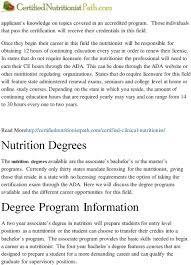 certified nutritionist career