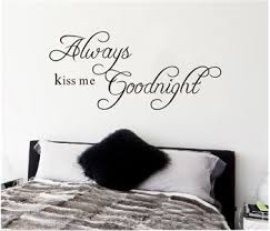 Creative Always Kiss Me Good Night English Words Quotes Vinyl Wall Decals Mural Stickers Diy China Sticker And Wall Stickers Price Made In China Com