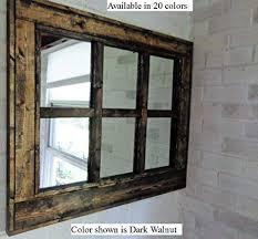 window mirror reclaimed wood framed